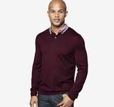 Johnston & Murphy Woven-Collar Sweater