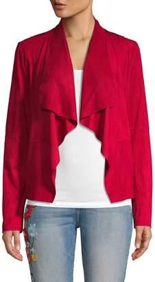 Bagatelle Open-Front Faux Suede Jacket