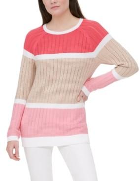 Calvin Klein Knit Colorblocked Sweater