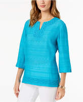Alfred Dunner Scottsdale Embellished Top