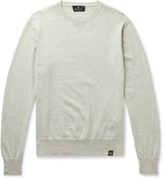Belstaff Castle Melange Cotton And Cashmere-Blend Sweater