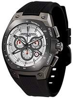Jorg Gray Men's Quartz Watch with Dial Chronograph Display and Black Rubber Strap JG8300-26
