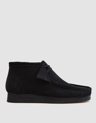Clarks Wallabee Boot in Black Suede