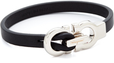 Salvatore Ferragamo Gancini Leather Bracelet