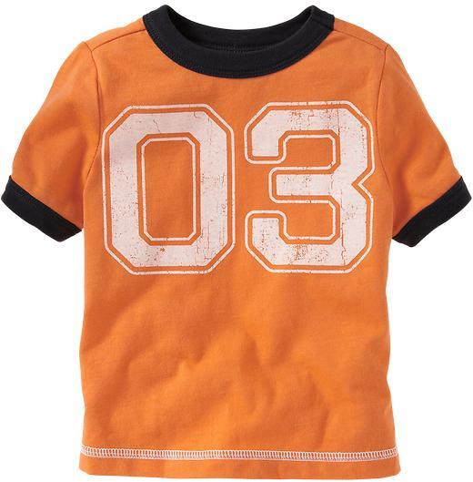 Old Navy Team-Style Number Tees for Baby