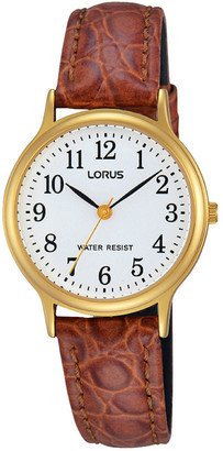 Lorus RRS60VX-9 Ladies Gold Leather Strap Watch