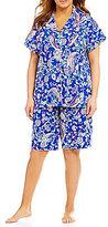 Lauren Ralph Lauren Plus Paisley Jersey Bermuda Pajamas