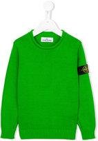 Stone Island Junior - logo patch sweatshirt - kids - Cotton - 8 yrs