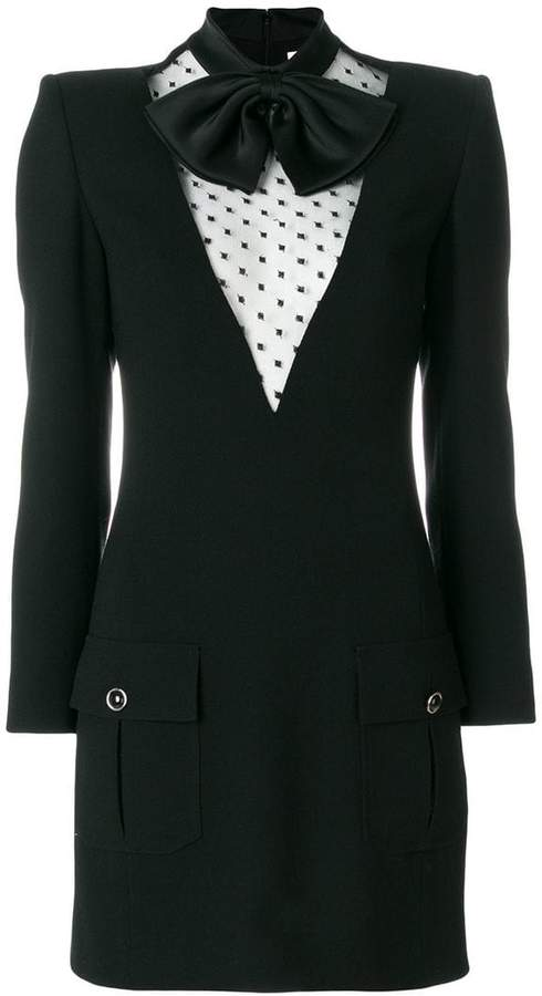Givenchy bow collar short dress