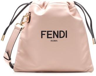 Fendi Logo Print Small Bucket Bag