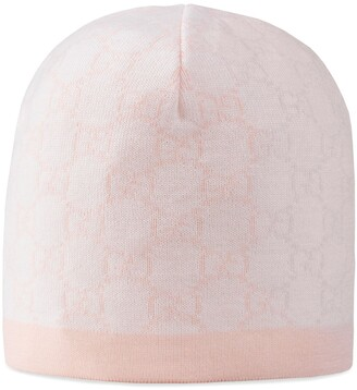 Gucci Baby GG pattern wool hat