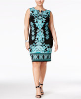 JM Collection Plus Size Printed Sheath Dress, Only at Macy's