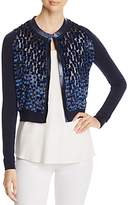 Elie Tahari Alena Mixed Media Cardigan