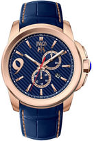 Jivago Mens Gliese Blue Leather Strap Watch