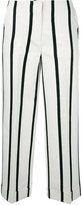 Twin-Set striped cropped trousers - women - Cotton/Polyester/Viscose - 38