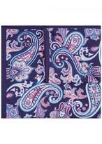 Eton Printed Cotton Blend Pocket Square