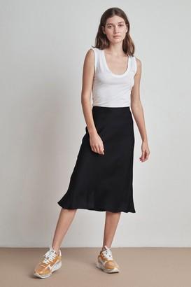 Velvet by Graham & Spencer Calissa Satin Viscose Midi Skirt