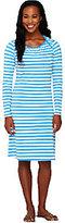 As Is Liz Claiborne New York Bateau Neck Striped Dress