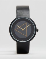 Asos Watch With Minimal Gold Geo Face