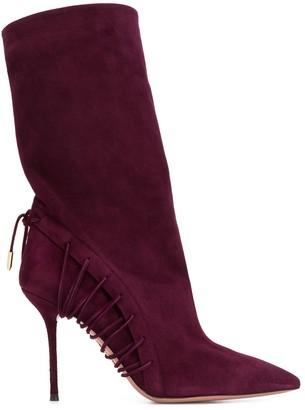 Aquazzura Lace-Up Details Boots