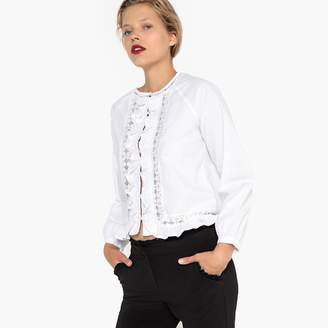La Redoute Collections Shirt with Lace Insets and Ruffles