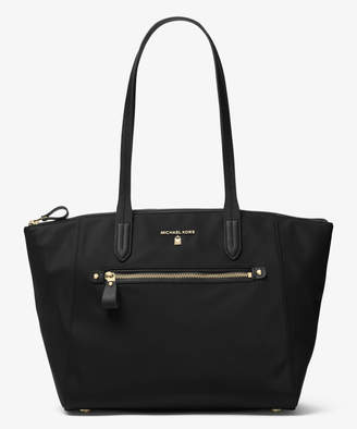 Michael Kors Women's Totebags Black - Black Medium Top-Zip Kelsey Nylon Tote