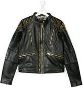 Roberto Cavalli Teen studded jacket