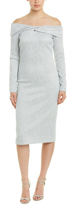 Oscar de la Renta Silk-Blend Sheath Dress