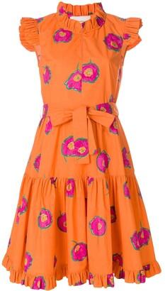 La DoubleJ Floral Print Ruffle Dress