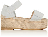 Maison Margiela Women's Denim Espadrille Sandals-BLUE