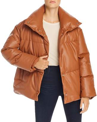 BAGATELLE.NYC Oversize Faux Leather Puffer Jacket