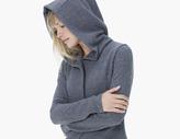 James Perse Hooded Fleece Blazer