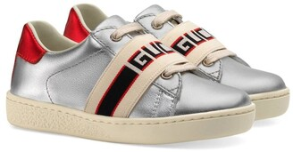 Gucci Kids Children's Ace sneaker with Gucci stripe
