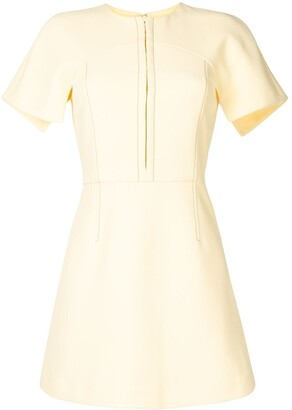 Dion Lee Structured Short-Sleeve Mini Silk Dress