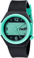 Neff Unisex NF0225BKTL Stripe Analog Display Japanese Quartz Watch