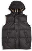 Burberry Little Boy's & Boy's Carlton Hooded Quilted Vest