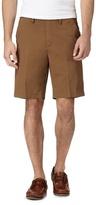 Maine New England Big And Tall Dark Tan Chino Shorts