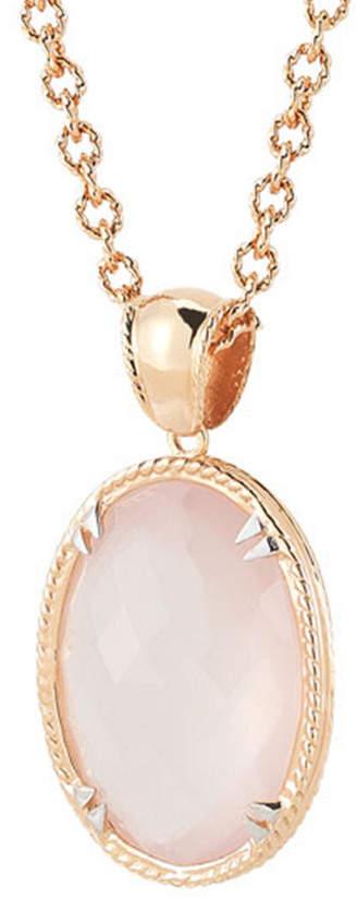 Alor Delatori by Delatori By 18K Over Silver 24.00 Ct. Tw. Rose Quartz Necklace