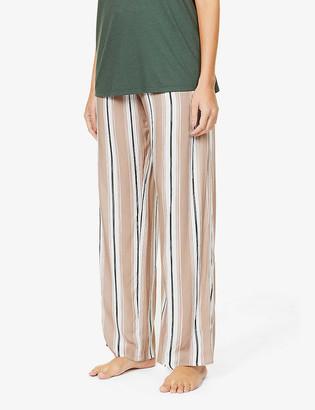 Hanro Stripe mid-rise woven pyjama bottoms