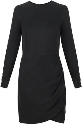 Flow Ruffle Mini Dress In Black