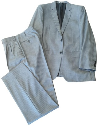 Christian Dior Grey Wool Suits
