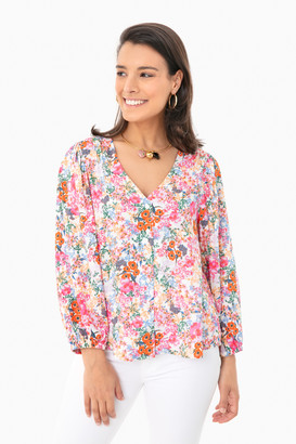 Lush Floral Alaine Button Blouse