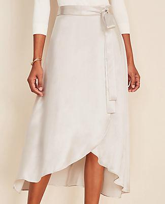 Ann Taylor Midi Wrap Skirt