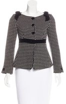 Emporio Armani Virgin Wool Bow-Accented Jacket