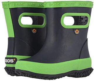 Bogs Skipper Solid (Toddler/Little Kid) (Navy/Green) Kids Shoes