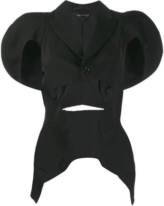 Comme des Garcons cutout puff sleeve jacket