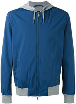 Eleventy zip hooded jacket - men - Cotton/Polyamide/Spandex/Elastane - L