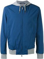 Eleventy zip hooded jacket - men - Cotton/Polyamide/Spandex/Elastane - XL