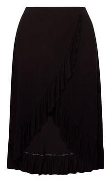 Dorothy Perkins Womens Dp Curve Black Ruffle Skirt, Black