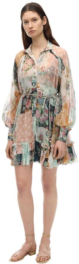Zimmermann Printed Silk Mini Dress